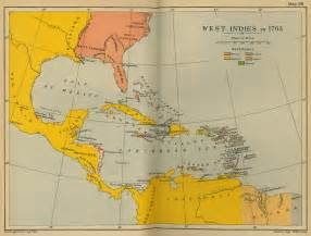 where is west on a map map of the west indies 1763