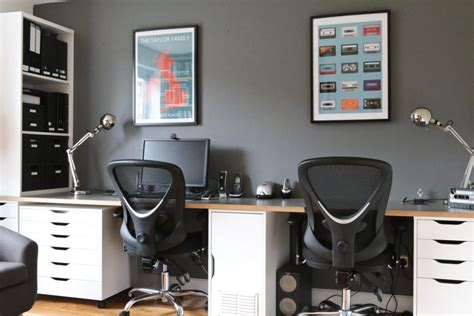 10 comfortable modern home office with two person desk