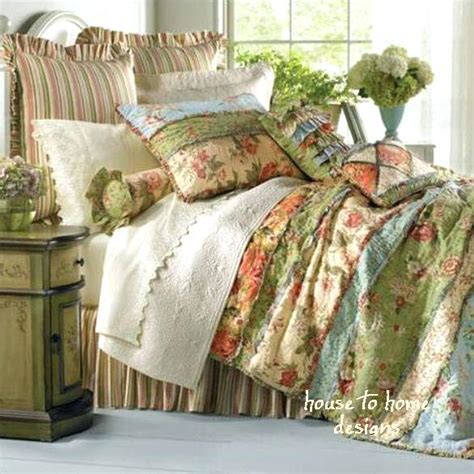 country cottage patchwork cotton quilt set country cottage