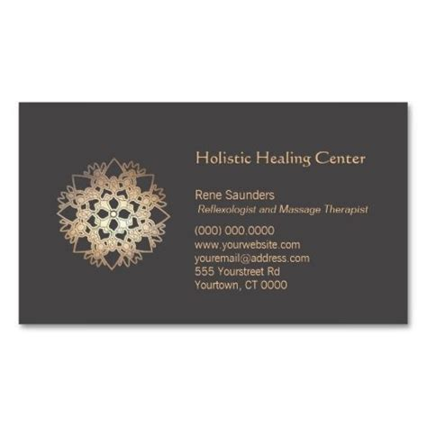 business cards templates coaching gold lotus holistic health and healing arts business card