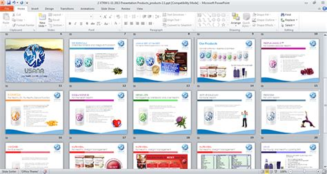 Usana Product App For Ipad On Behance Powerpoint Product Presentation