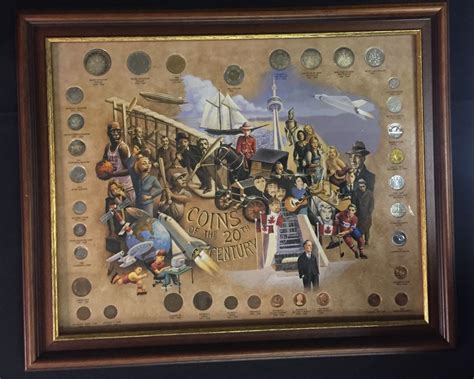 20th Century Coins Framed by Framed Set Of Canadian Coins Of The 20th Century