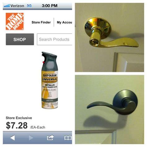 spray painting metal hardware brass to nickel in my own metallic spray paint brass door handles and brushed