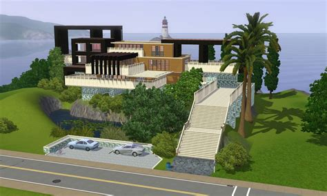sims 3 home design ideas sims 3 modern hillside home by ramborocky on deviantart
