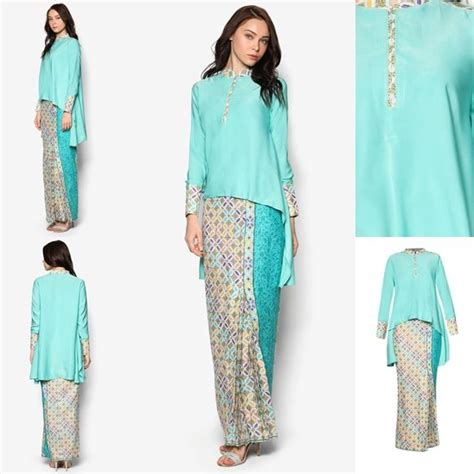 Baju Kurung Style Terkini baju kurung moden kain songket fesyen trend terkini baju raya 2017 fesyen trend terkini