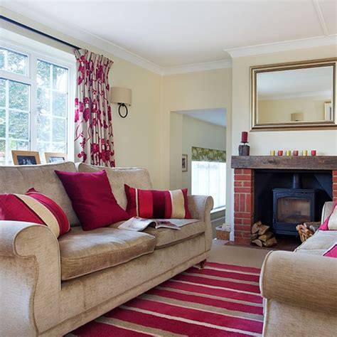 hot pink living room housetohome co uk traditional living room with pink furnishings decorating