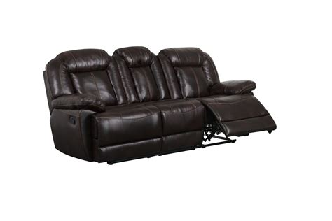 brown leather reclining couch u8304 brown leather air reclining sofa by global furniture