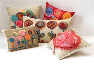amazing Interior Design For Small Kitchen #10: unnique-flower-pillows-for-sofa-pillows-ideas-with-another-decoration-and-colourfull-red-pillows-for-living-room.jpg