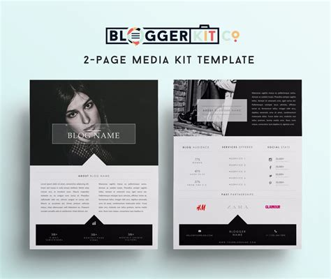 digital press kit template free two page media kit template press kit template