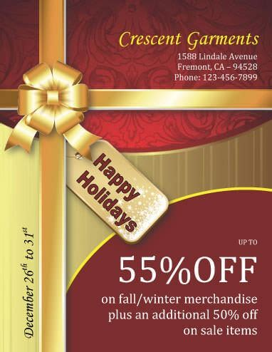 43 Free Christmas Flyer Templates For Diy Printables Gift Flyer Template