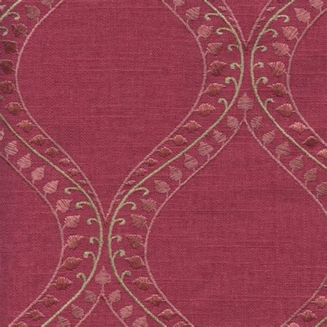 embroidered linen drapery fabric society lake tulip pink embroidered linen drapery fabric