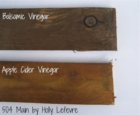 hometalk how to stain wood with balsamic vinegar