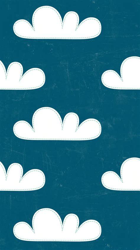 wallpaper iphone 5 cartoon hd iphone 5 wallpaper super cute cartoony clouds navy