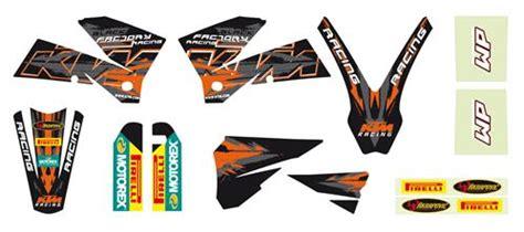 Ktm Verkleidung Aufkleber by Ktm Power Parts Racing Graphic Kit Black レーシンググラフィックキット
