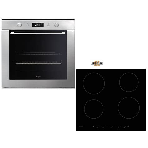 induction hob fan whirlpool akzm755ix pyrolytic 60cm fan oven touch induction hob pack