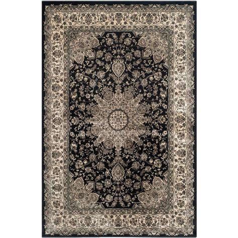 black and ivory area rugs safavieh garden black ivory 8 ft x 11 ft area rug peg605b 8 the home depot