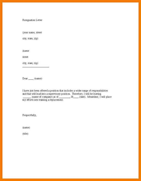 Best Diplomatic Resignation Letter 5 best resignation letter sles one month notice