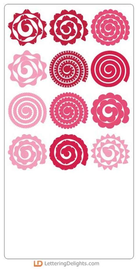 rolled paper flower pattern quilled flowers cs