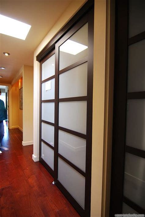 Shoji Style Closet Doors Updated Shoji Style Sliding Closet Doors With Translucent Glass For The Home Pinterest