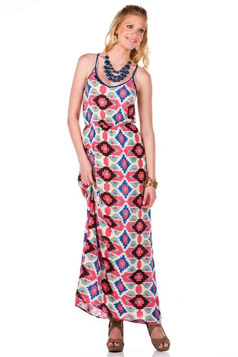 Sinta Dress Maxy santa fe printed maxi dress s