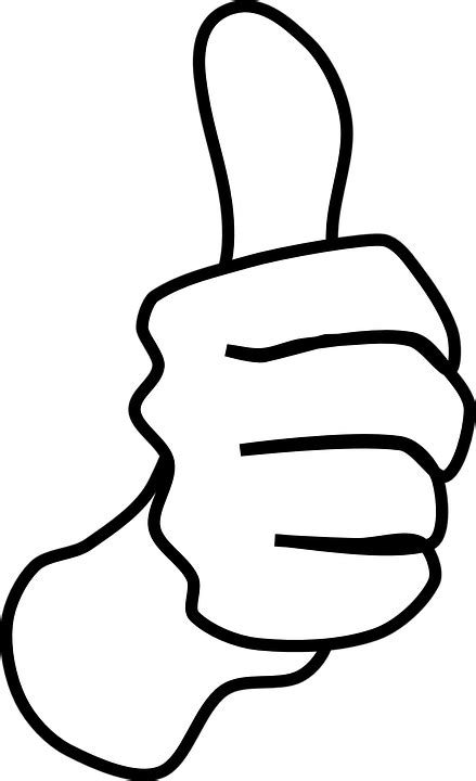 thumbs up for thumbs out books kostenlose vektorgrafik daumen hoch wie