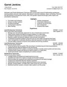 Maintenance Resume Template Unforgettable Facility Lead Maintenance Resume Examples To