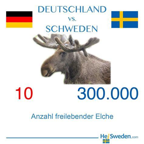 anzahl elche in deutschland und schweden hej sweden