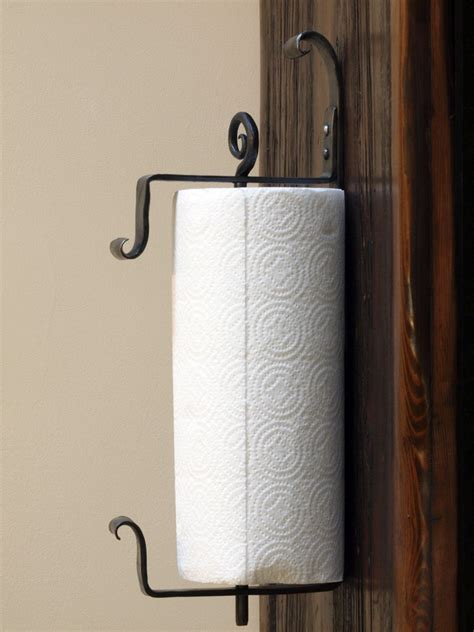 Bathroom Towels Ideas by Wall Mounted Iron Paper Towel Holder Hand Forged By A