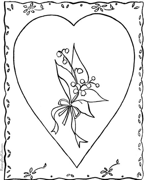 coloring pages for valentines cards valentine card coloring pages 006