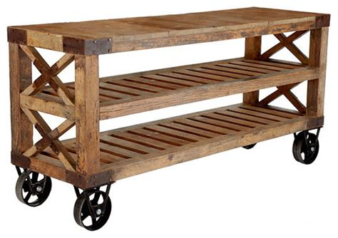 outdoor kitchen carts and islands recycled pine wood console wisteria rustic kitchen