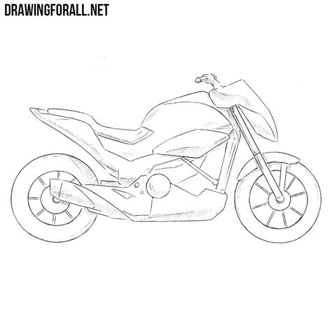 How To Draw A Drawingforall by How To Draw A Motorcycle Step By Step Drawingforall Net