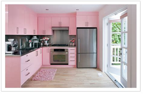 turn your kitchen pink embellish interiors