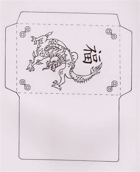 printable chinese new year envelope easy dragon crafts book covers