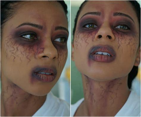 Zombie Makeup Tutorial Dark Skin | how to apply zombie makeup on dark skin mugeek vidalondon