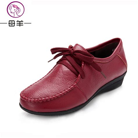 plus size 34 42 s genuine leather single flat shoes