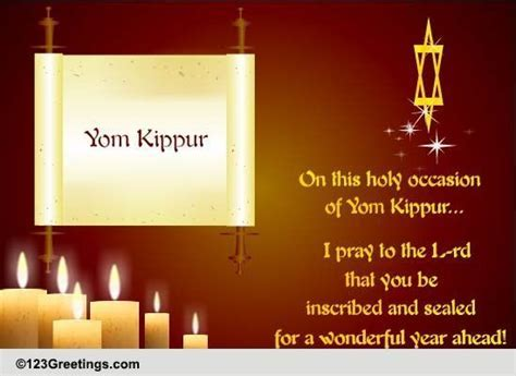 Wonderful Year Ahead  Free Yom Kippur eCards, Greeting