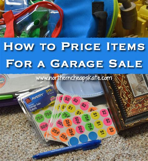 how to price items for a garage sale