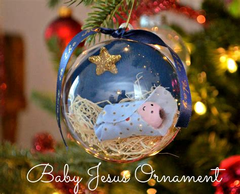 religious ornaments to make baby jesus ornament one artsy