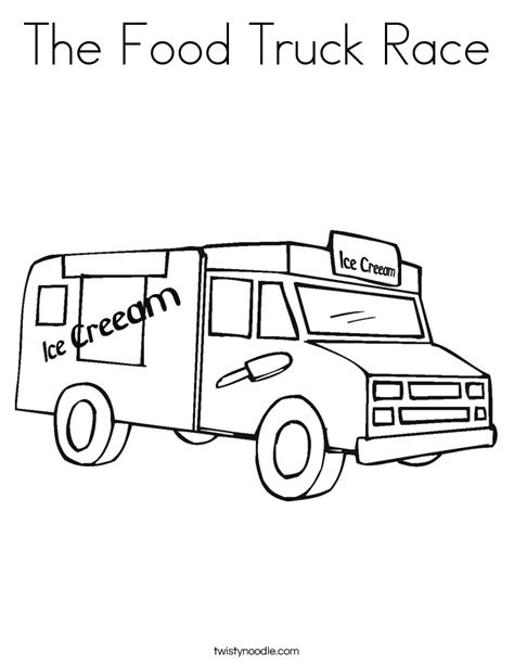 food truck coloring page the food truck race coloring page twisty noodle