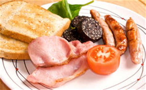 騅iers de cuisine de ierse worsten het ontbijt stock afbeeldingen