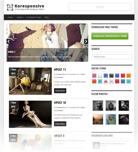 theme blog responsive 20 best free responsive wordpress themes 2013 with premium