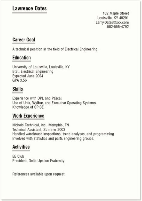 simple high school resume best 20 high school resume ideas on resume