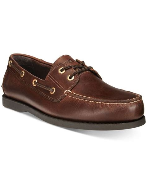 dockers boat shoes dockers s vargas boat shoes in brown for lyst
