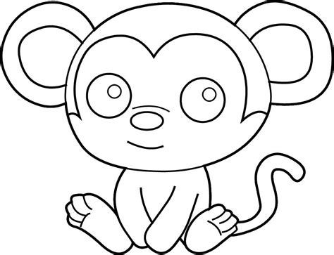 easy monkey coloring page coloring pages printable kids coloring pages easy