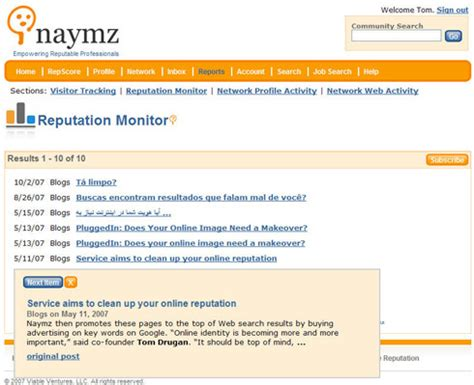 Naymz Search Naymz Helps To Track Reputation Somewhat Frank