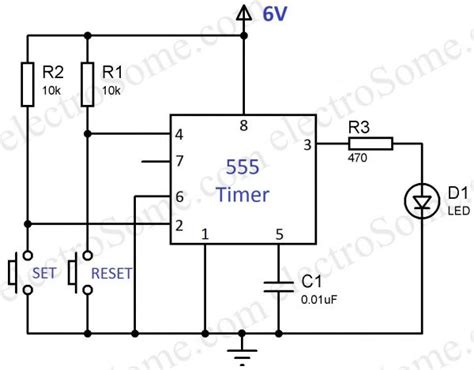 555 timer circuit diagram bistable multivibrator using 555 timer