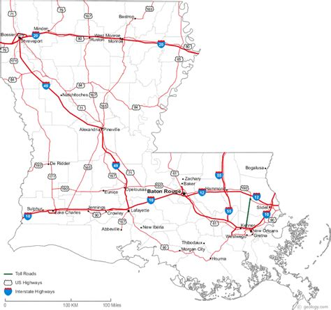 louisiana map cities and rivers map of louisiana