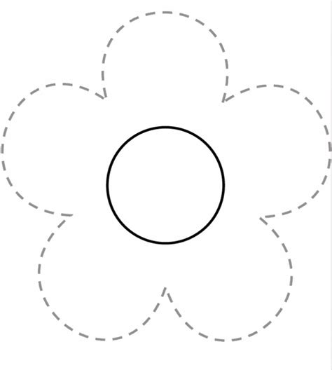 flower tracing free printable worksheets