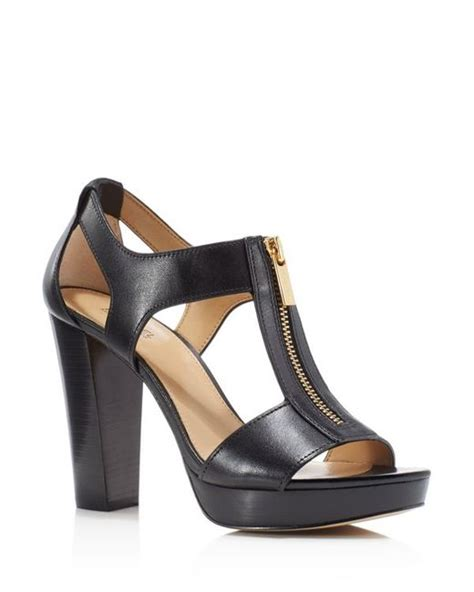 michael kors high heel sandals michael michael kors berkley zipper platform high heel