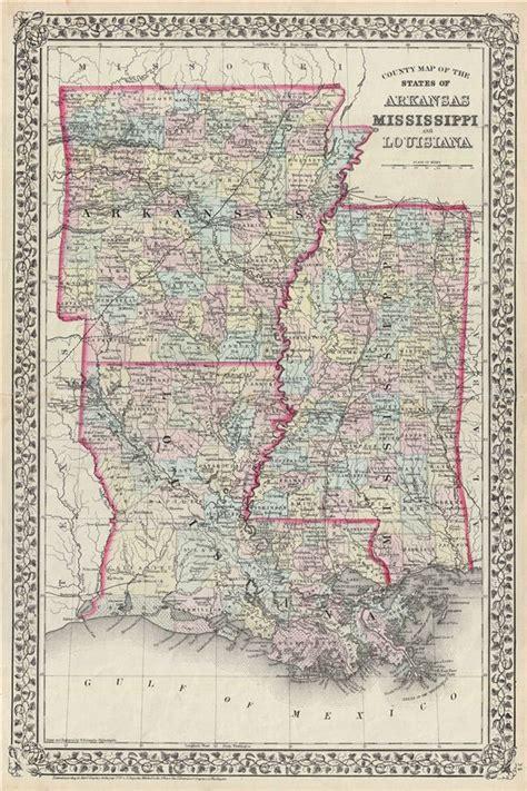 louisiana arkansas map map of louisiana and arkansas swimnova